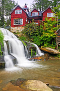 Water Mill Images Prints - Mills Shoals Falls   Pigah National Forest  NC Print by Willie Harper