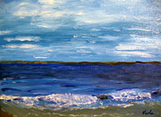 Cape Cod Paintings - Millway Beach Barnstable by Viola Holmgren
