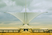 Concrete Sculpture Prints - Milwaukee Art Center Print by Jack Zulli