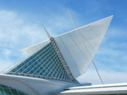 Ann Horn Prints - Milwaukee Art Museum Print by Ann Horn