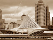 Calatrava Photos - Milwaukee Art Museum in winter by David Bearden