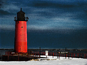 Milwaukee Pierhead Lighthouse Print by David Blank