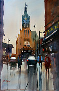 Streetscape Paintings - Milwaukee Reflections by Ryan Radke