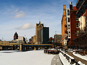 Milwaukee Prints - Milwaukee Riverwalk Print by David Blank