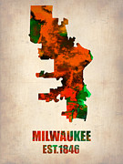 Irina  March - Milwaukee Watercolor Map
