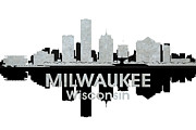 Milwaukee Skyline Framed Prints - Milwaukee WI 4 Framed Print by Angelina Vick