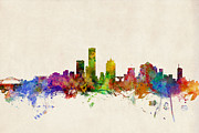 States Prints - Milwaukee Wisconsin Skyline Print by Michael Tompsett