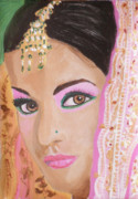 Kate Farrant Art - Mina Indian Bride by Kate Farrant