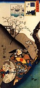 Large Prints Posters - Minamoto-Yoshiie-at the Nakoso Barrier Poster by Pg Reproductions