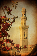 Building Exterior Mixed Media - Minaret in Old Cairo capital of Egypt by Mohamed Elkhamisy
