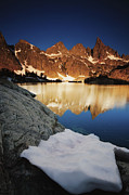 Siera Nevada Framed Prints - Minaret Lake Sunrise 5. Framed Print by Laszlo Rekasi