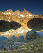 Siera Nevada Framed Prints - Minaret Lake Sunrise 6. Framed Print by Laszlo Rekasi