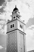 Tiled Framed Prints - Minaret Tower Of The Mosque In Nabeul Tunisia Framed Print by Joe Fox