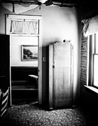 Hotel-room Photo Prints - Mineola Beckham Hotel Room in BW Print by Sonja Quintero