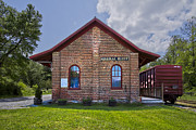 Brick Building Prints - Mineral Bluff Station Print by Debra and Dave Vanderlaan