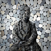 Buddha Statue Prints - Mineral Buddha Print by Delphimages Photo Creations