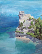 Pictured Paintings - Miners Castle by Joshua Lawe