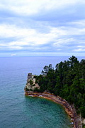 National Lakeshore Prints - Miners Castle Print by Michelle Calkins