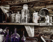 Cans Digital Art Prints - Miners Kitchen Print by Ellen Lacey
