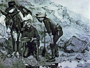 Remington Framed Prints - Miners Prospecting Framed Print by Pg Reproductions