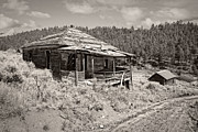 Miners Ghost Prints - Miners Shack - Comet Ghost Mine - Montana Print by Daniel Hagerman