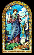 Vedder Framed Prints - Minerva Mosaic Design 1896 Framed Print by Padre Art