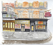 Greenwich Village Paintings - Minetta Tavern  Greenwich Village by Lynn Lieberman
