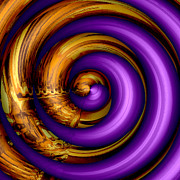 Coiled Posters - Mingle - Purple Poster by Wendy J St Christopher