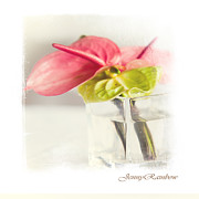 Zen Gift Posters - Mini Bouquet with Anthurium. Elegant KnickKnacks from JennyRainbow Poster by Jenny Rainbow
