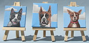Chihuahua Portraits Framed Prints - Mini Dog Portraits Framed Print by Stuart Swartz