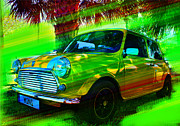 Whitewall Tires Mixed Media Prints - Mini Print by Doug Walker