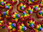 mini Flying Rainbow Lasagnes Print by Nofirstname Aurora