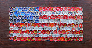Stars And Stripes Mixed Media Posters - Mini Glory Poster by Kay Galloway