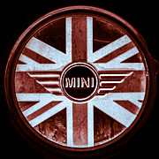 Mini Cooper Prints - Mini Logo Print by Scott  Wyatt