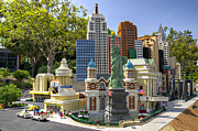 Legoland Prints - Mini NYNY Casino Print by Ricky Barnard
