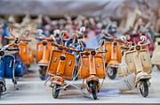 Naples Metal Prints - Mini Scooters Metal Print by Marion Galt