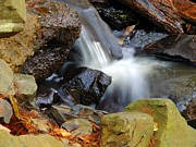 Ledge Photos - Mini-Waterfall by Marcia Lee Jones