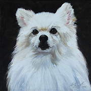 Service Dog Prints - Miniature American Eskimo Dog Print by Alice Leggett