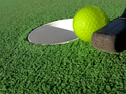 Turf Metal Prints - Miniature Golf Metal Print by Olivier Le Queinec