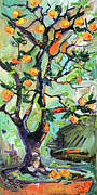 Ginette Fine Art LLC Ginette Callaway - Miniature Oranges Potted Tree