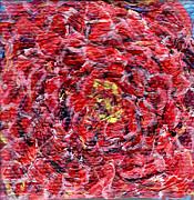 Regina Valluzzi - miniature red mum 2 by 2 inches