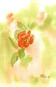 Miniature Originals - Miniature Red Rose in the Garden by Kip DeVore