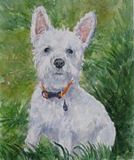 Miniature Schnauzer Paintings - Miniature Schnauzer by Gloria Turner
