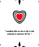 Introvert Prints - Minimalist Art Red Heart No.22. Print by Drinka Mercep