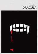 Minimalist Digital Art Framed Prints - Minimalist Book Cover Bram Stoker Dracula Framed Print by Budi Satria Kwan