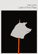 Library Digital Art - Minimalist book cover lord of the flies by Budi Satria Kwan
