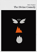 Books Framed Prints - Minimalist book cover the divine comedy Framed Print by Budi Satria Kwan