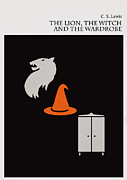 Famous Novel Framed Prints - Minimalist book cover the lion the witch and the wardrobe Framed Print by Budi Satria Kwan