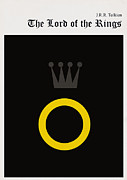 Library Digital Art - Minimalist book cover the lord of the ring by Budi Satria Kwan