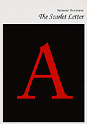 Library Digital Art - Minimalist book cover the scarlet letter by Budi Satria Kwan